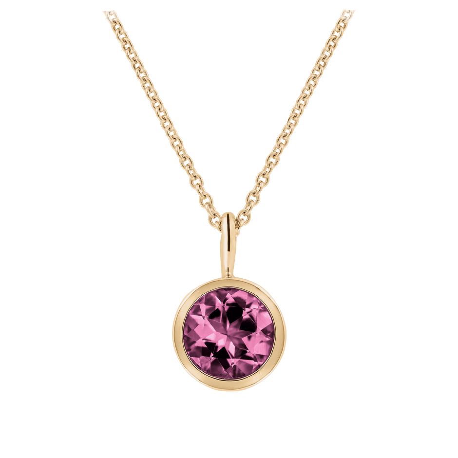 Pendant Bezel Tourmaline pink in Rose Gold