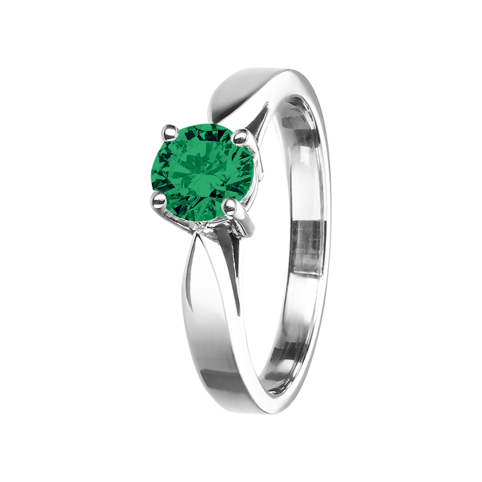 Vancouver Emerald green in White Gold