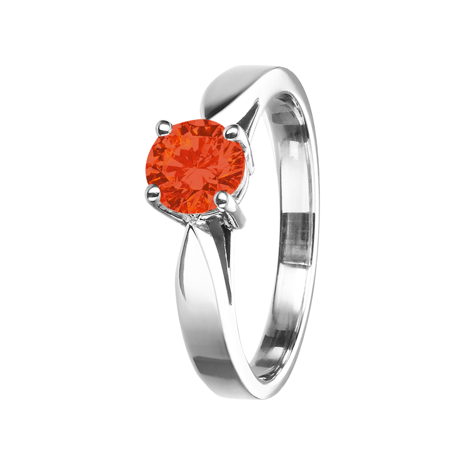 Vancouver Fire Opal orange in White Gold