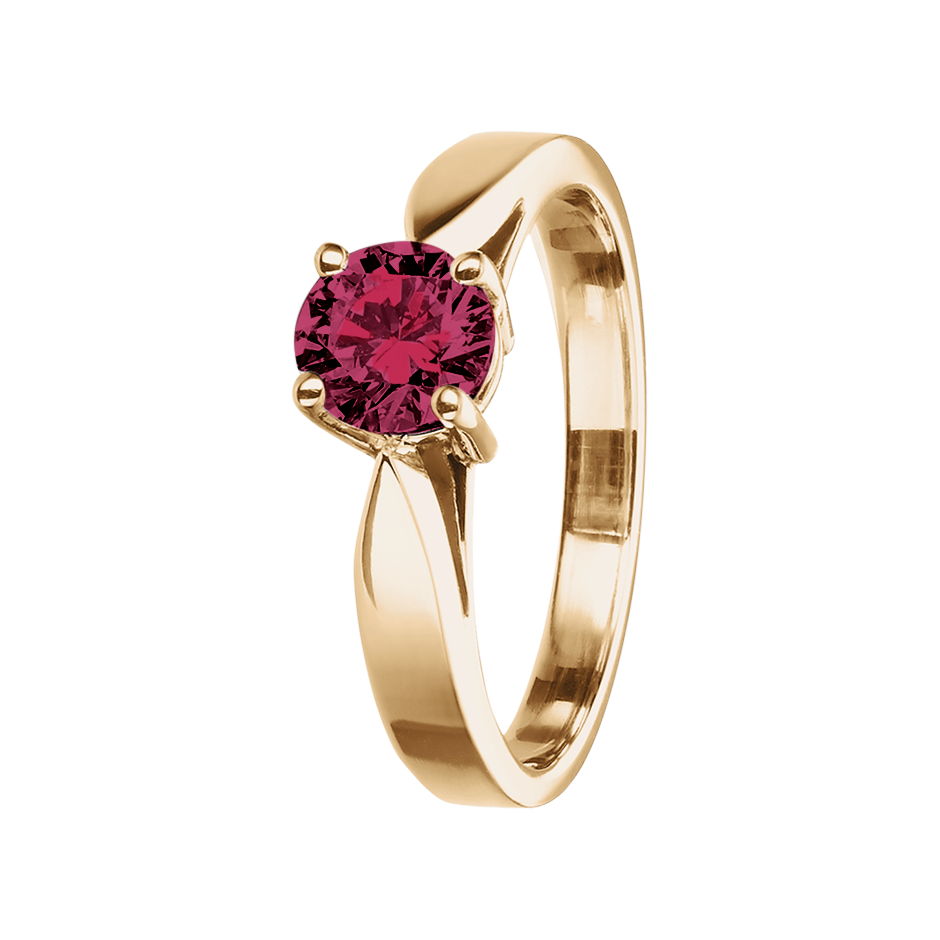 Vancouver Rhodolite red in Rose Gold