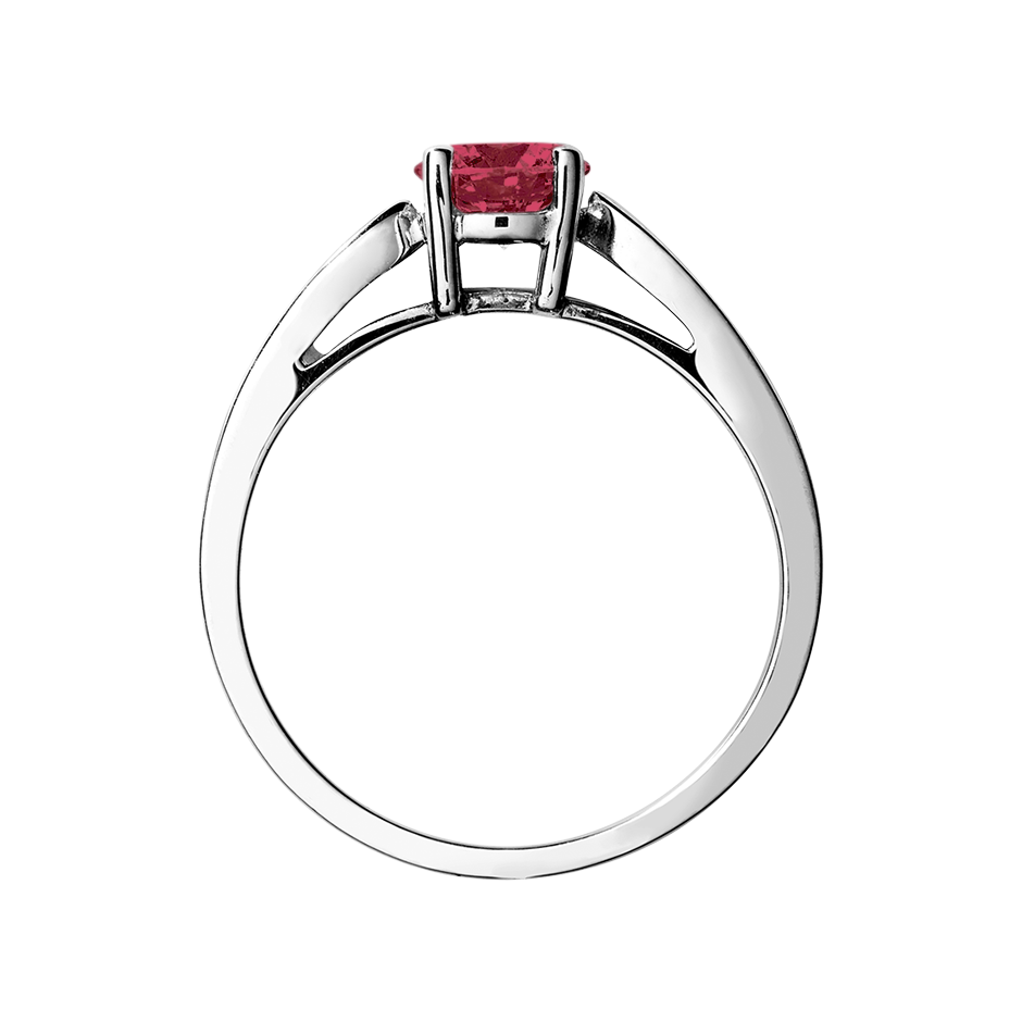 Vancouver Ruby red in White Gold