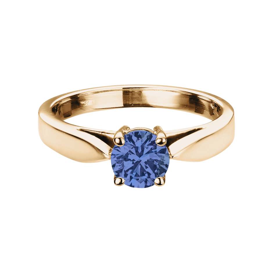 Vancouver Tanzanite blue in Rose Gold