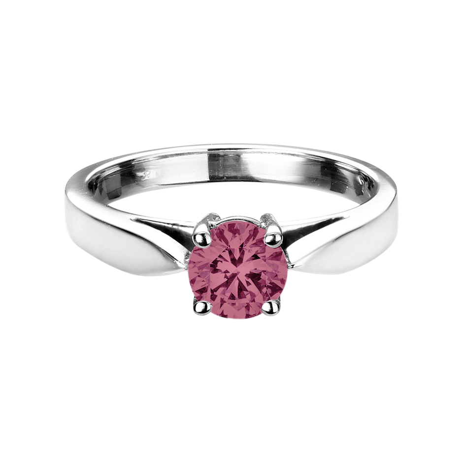 Vancouver Tourmaline pink in White Gold